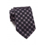 BOSS Hugo Boss Checker Silk Tie LIGHT PINK