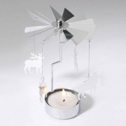 rosegal European Retro Rotating Windmill Style Candle Holder Valentine's Day Decorative Candlestick