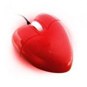 Mouse ottico a forma di CUORE ROSSO