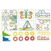 Hape Home Education - Gioco di forme, con anelli e bastoncini [lingua inglese]