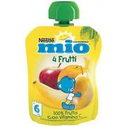 Mitac Frutta Grattugiata da Spremere 4 Frutti 100% Frutta senza Glutine da 6 Mesi, 90ml