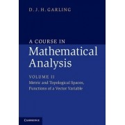 A Course in Mathematical Analysis: Volume 2, Metric and Topological Spaces, Functions of a Vector Variable by D. J. H. Garling