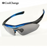 CoolChange Professional Polarized Cycling Glasses Bike Goggles Outdoor Sports Bicycle Sunglasses With 6 Lens Myopia Frame