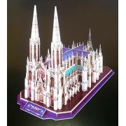 Puzzle, New York, Saint Patricks Cathedral, The Cathedral Of St, Patrick Is A Decorated Neo Gothic Style Roman Catholic Cathedral Church In The United States And A Prominent Landmark , New York City, 34x19.8x41.2, 117 Pieces, 3d Puzzles