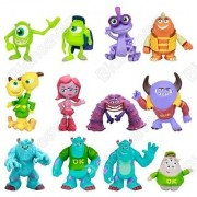 12pcs Set Monsters University Inc Mike Sulley Randy Art Terry Action Figure Toy