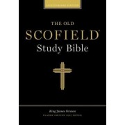 The Old Scofield (R) Study Bible, KJV, Classic Edition - Bonded Leather, Navy, Thumb Indexed by Oxford University Press