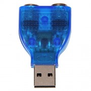RiaTech® USB TO DUAL PS2 Adapter Convertor - Blue