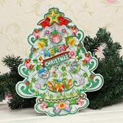 Generic Christmas Trees Santa Claus Reindeer Car Window Sticker(Christmas Tree)