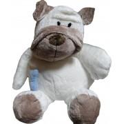 Plüss Kutya kék csonttal 32 cm