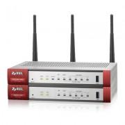 ZyXEL USG20W-VPN VPN Firewall, Single Radio 2,4GHZ 802.11n or 5GHz 802.11ac Wireless (3x3 - 20/40/80MHz), 10x VPN (IPSec/L2TP), up to 15 SSL (5 included), 1x WAN, 1x SFP, 4x LAN/DMZ, 1x USB port, Opti