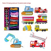 BabyPrice BYP Lace and Trace Toys and Games Funny Lacing Cards Vehicles Funny Educational Games