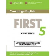 Cambridge English First 5 Student's Book without Answers by Cambridge ESOL