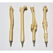 EOM Femur Finger Spine Tibia Fibula Bone Ball Pen Nurse Radiographer Gift Crazy Stationery Student Kid Prizes 4pcs White