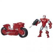 Marvel Super Hero Mashers Iron Man Figure with Hotshot Hot Rod Vehicle