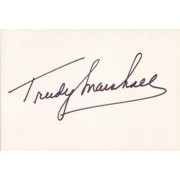 Trudy Marshall Autographed Index Card