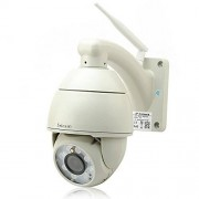 High-Tech Place Outdoor Weatherproof PTZ Speed Dome IP Camera – P2P, H.264, 720p, Wi-Fi, Motion Detection, 8 x Array LEDs, 50 Meter Night Vision