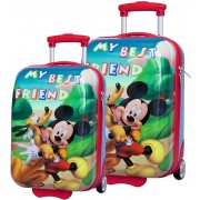 Set Troler Abs 48/55 cm Mickey si Pluto Friends