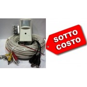 "MC-CH21A Telecamera ccd b/n Audio/Video ottica fissa 1/3"" con rilevatore PIR"