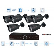 CCTV Kamerové sety 6x bullet kamera 1080P s 20m IR a AHD DVR
