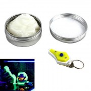 La viscosidad de goma luminosa juguete de la arcilla Dar Set mini luz UV - Blanco