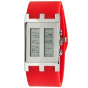 EOS New York Binary NU Watch Red/Silver 120SREDSIL