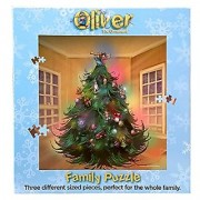 Holiday Family Puzzle - Oliver the Ornament Christmas Tree Family Puzzle - 324 Piece Jigsaw Puzzle Includes Small Medium and Large Pieces - Fun Entertainment and Bonding for the Entire Family!