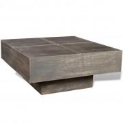 vidaXL Fyrkantigt soffbord av mangoträ Antik stil Svart