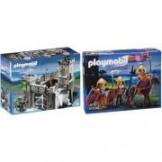 Playmobil 6002 - Castello Dei Cavalieri Del Lupo + Playmobil 6006 - Squadra Esplorativa dei Cavalieri del Leone
