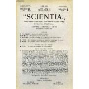 Scientia, Year Xv, Vol. Xxx, N° Cxvi-12, Serie Ii, 1921, Rivista Internazionale Di Sintesi Scientifica, Revue Internationale De Synthese Scientifique, International Review Of Scientific ...