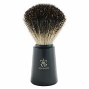 100% BORSUK, pędzel do golenia z uchwytem, czarny, Schramm