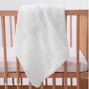 Mycey - Бебешко плетено одеяло - Екрю