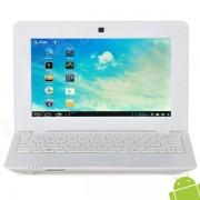 """V712 10"""" Screen Android 4.0 Netbook w/ Wi-Fi / RJ45 / Camera / HDMI / SD Slot - White"""
