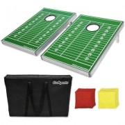 GoSports Football Edition CornHole Bean Bag Toss Game Set CH-01-Football