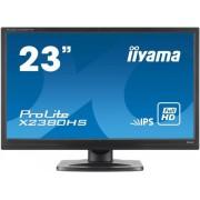 "Monitor IPS iiyama 23"" ProLite X2380HS-B1, Full HD (1920 x 1080), HDMI, DVI-D, 5ms, Boxe (Negru)"