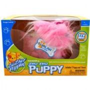 Cepia Zhu Zhu Puppies Series Adorable Moving ZhuZhu Puppy - Pink LooLah with Brush