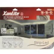 Xanlite Kit Ruban Strip Led 3M blanc chaud 3000k avec Transformateur et Connecteurs XANLITE Ref LSA-K3