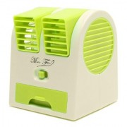 Tuelip Easy Chargeble Dual Bladeless Mini Fresh Air Cooler With Fragrance USB Fan