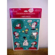 Peanuts Snoopy Woodstock Christmas Stickers 4 Sheets