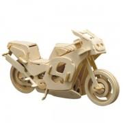 Puzzle eco 3D din lemn Renn Motorrad Pebaro
