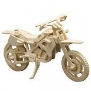 Puzzle eco 3D din lemn Cross Motorrad Pebaro