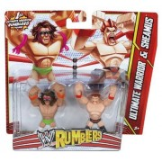 WWE Rumblers Ultimate Warrior and Sheamus Action Figure, 2-Pack by Mattel