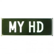 """""""Novelty Number Plate - My HD - White On Black"""""""
