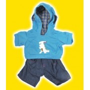 """Dinosaur Hoodie w/Jeans Teddy Bear Clothes Outfit Fits Most 14"""" - 18"""" Build-a-bear, Vermont Teddy Bears, and Make Your Own Stuffed Animals by Teddy Mountain"""