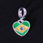 Pendant 925 Brazil Flag for Bracelet Moments of Life
