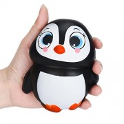 Stress Reliever Toys - Celendi Cute Penguins Squishy Slow Rising Cream Scented Decompression Toys (Female penguin)