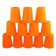Toy table de jeu rapide pliante Coupe volante - Orange (12 PCS)