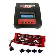 Venom Sport Power 40 C 2 S 5000m Ah 7.4 V Li Po Battery With Uni Plug & 3 Ac/Dc Powered 7 Amp Rc Charger Combo