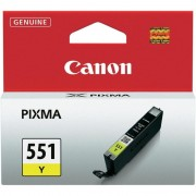 CANON CLI-551Y, Yellow InkJet Cartridge (BS6511B001AA)