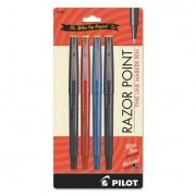 Razor Point Fine Line Marker Pen, Ultra-Fine, Assorted, .3mm, 4/pack
