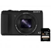 Sony Cyber-shot DSC-HX60 (czarny) + karta 32GB - Raty 50 x 18,98 zł - dostępne w sklepach